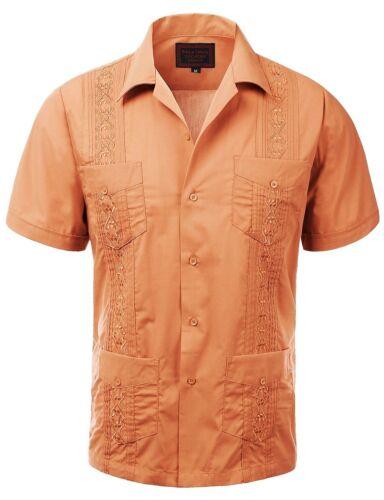 Guayabera Men/'s Cuban Beach Wedding Short Sleeve Button-up Casual Dress Shirt