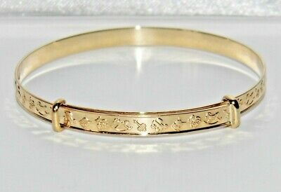 1.9 grams 9ct Yellow Gold Baby Torque Bangle Fully Hallmarked