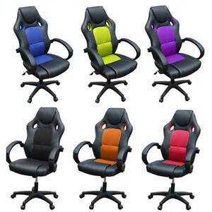 Image Is Loading Sport Racing Gaming Chairs Car Seat Office Armchair