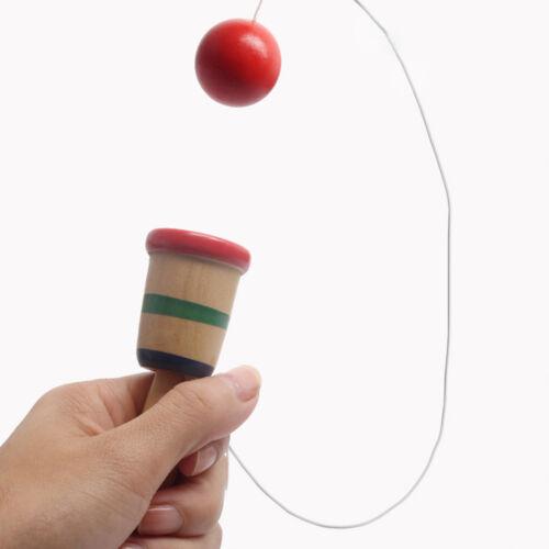 Eg /_ Kf /_ Traditionnel Japonais Bois Kendama Balle Éducatif Balance Compétence
