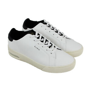 Radii-Square-FM1100-Mens-White-Leather-Casual-Lace-Up-Low-Top-Sneakers-Shoes