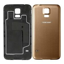 COPRIBATTERIA ORIGINALE AUTENTICO si adatta Samsung Galaxy s5 g900f i9600 RAME ORO