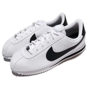 e64e1f22aed9 Nike Cortez Basic (GS) 904764-102 White Black Leather Shoes Youth 4Y ...