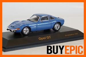 Schuco-Opel-GT-1-43-Especial-Edition-1998-azul-verdoso-Blue-maqueta-de-coche-nuevo-amp-OVP