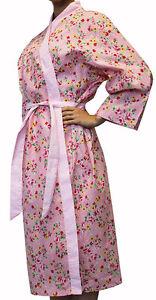 Alice Pink Florals Bathrobe Shabby Chic Dressing Gown Bath Robe ...