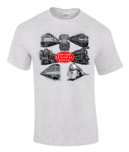 86 New York Central Collage Authentic Railroad T-Shirt