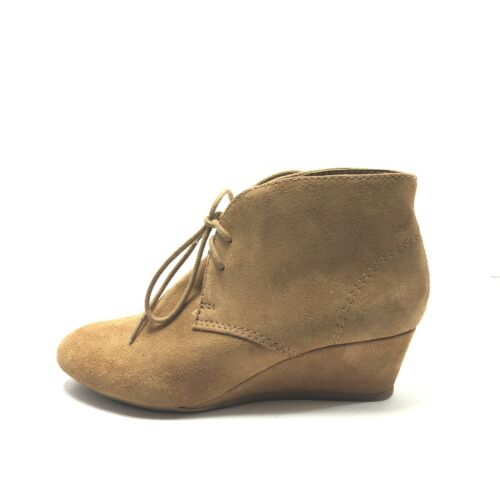 Nine West Laineo Ankle Boots Tan Suede Lace-Up Boo