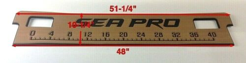 "259 Bolster Bench Seat Pad Brushed Titanium//Black Sea Pro 40/"" Fishing Ruler"