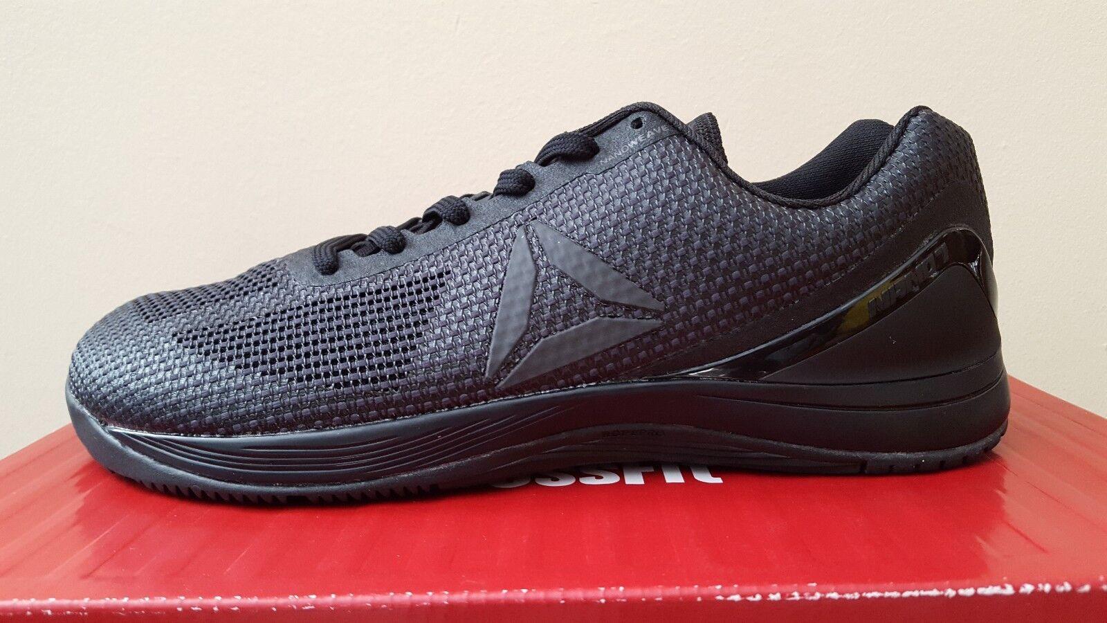Reebok CrossFit Nano 7.0 Para Hombres Zapatos De Entrenamiento Negro plomo (BS7728)