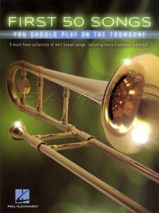 50 Premières Chansons Vous Devriez Jouer Sur Le Trombone Partitions Livre Adele Frozen-afficher Le Titre D'origine BéNéFique à La Moelle Essentielle