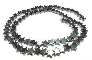 Haematit-Perlen-Sterne-6-mm-Perlen-Strang-fuer-Kette-u-a-Schmuckherstellung
