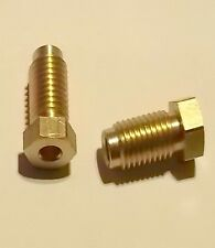 """2 x 3/8"""" BSF 20tpi Male Brass Brake Fitting Nuts for MG TD & TF 1950-55"""