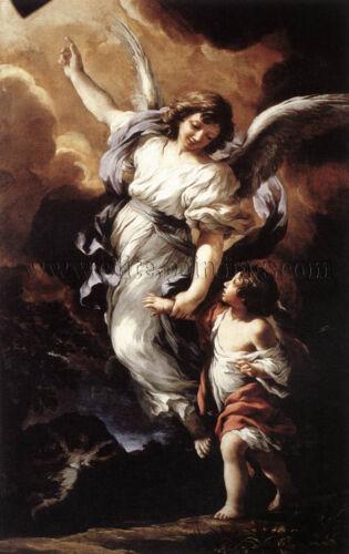 PIETRO DA CORTONA THE GUARDIAN ANGEL ARTISTA QUADRO RIPRODUZIONE FALSI D AUTORE