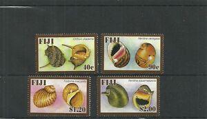 Fidschi SG1363-1366 Süßwasser-Schnecken Set MNH