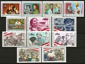 Austria-1986-2001-MNH-Austrian-World-of-Work-12-issues-complete-series