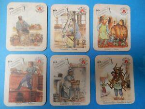 6 bierviltjes  STELLA ARTOIS OUDE BEROEPEN ANCIEN METIERS        /