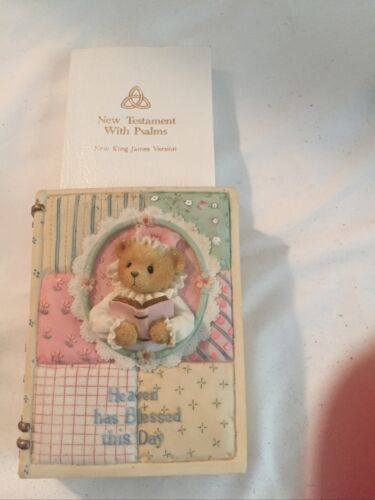 Details about  /Cherished Teddies Heaven Has Blessed This Day New Testament King James Version