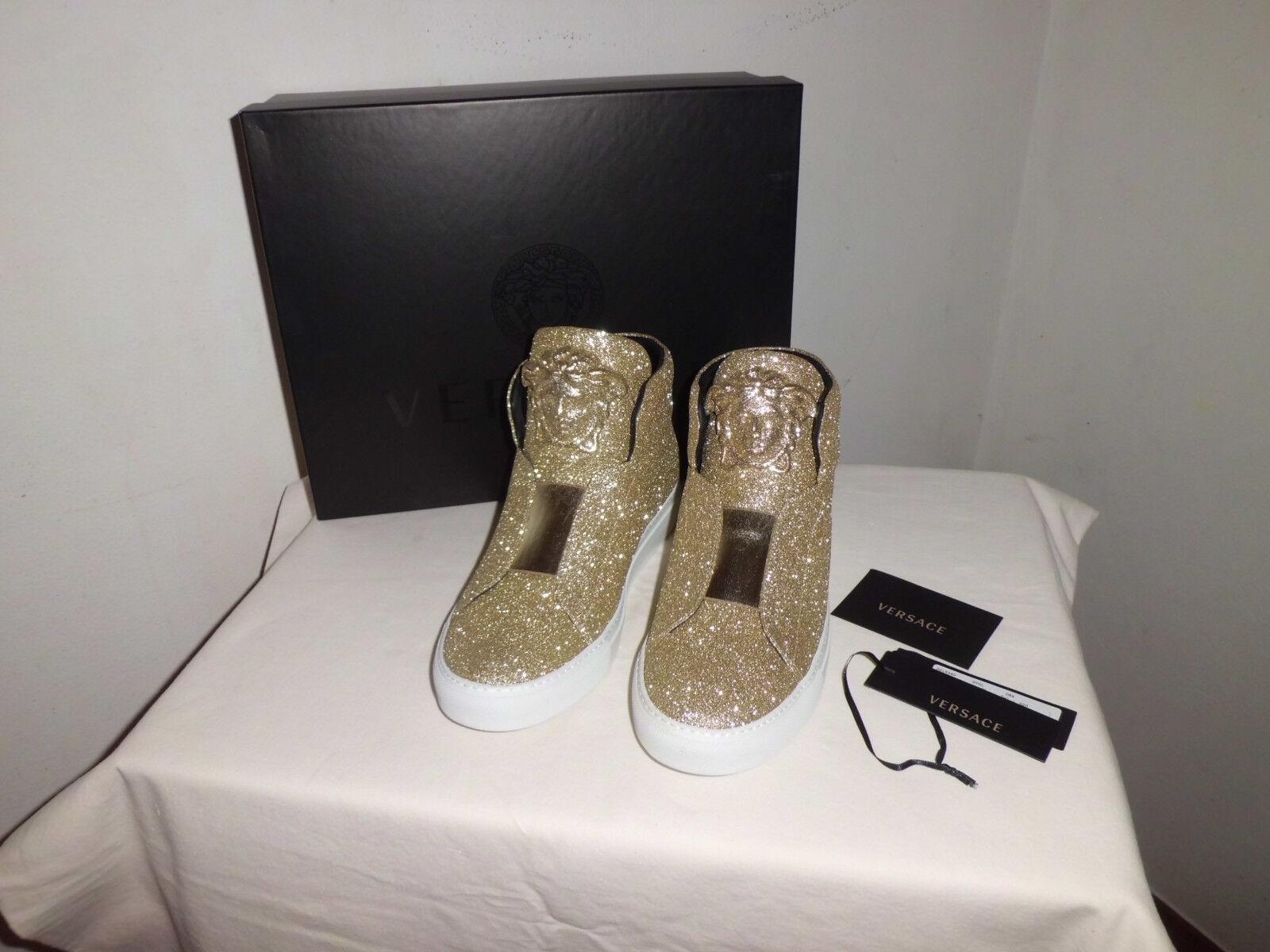 Versace Palazzo Scarpe da Ginnastica  Shoes  Glitter Glitter  Sahara size  IT 40 388b4e