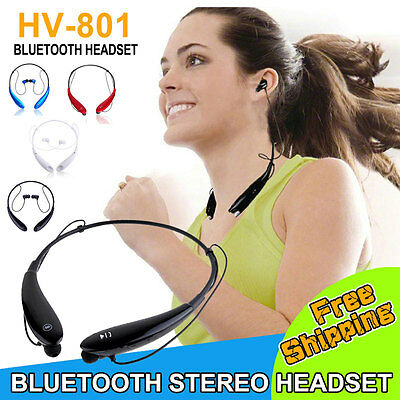 NEW  Wireless Bluetooth Stereo Music Headset Universal Neckband for iphone 5 6