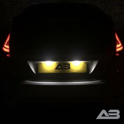 Pour Ford Fiesta MK7 Xenon Blanc DEL Plaque d/'immatriculation Ampoules mise à niveauautobeam