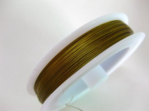 100 Meters Silver Gold Beading Cord Wire Thread Tiger Tail 0.38mm 0.45mm