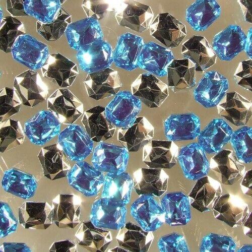 1000 x Glitzersteine Diamanten Schmucksteine OCTAGON versch Farben 6x8 mm