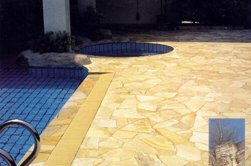 crema Premium Natursteine Polygonalplatten Fliesen Terrassenplatten 10qm