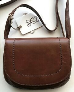 Hobo-International-Sierra-Cafe-leather-Crossbody-Messenger-bag-purse-R-138