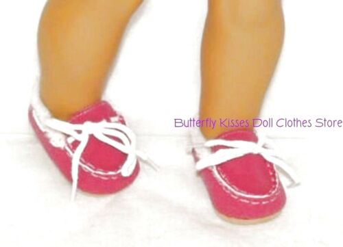 Hot Pink Moccasin Slippers 18 in Doll Clothes Fits American Girl