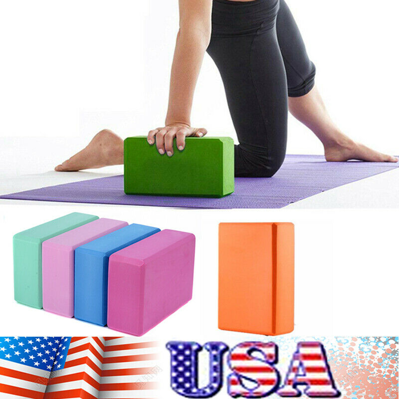 Yoga Fitness Foam Block Brick Pilates Gym Workout Exercise Stretching Bolster US