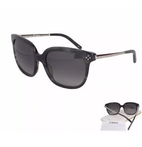 e685e192618 Image is loading New-Womens-GENUINE-Chloe-Sunglasses-CE642S-026-Striped-