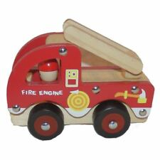 Traditionnel Wood 'N' Fun Fourgon D'Incendie 3+