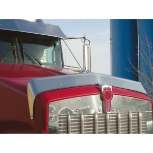 Details about Kenworth T800 Hoodshield Bug Deflector - Stainless Steel