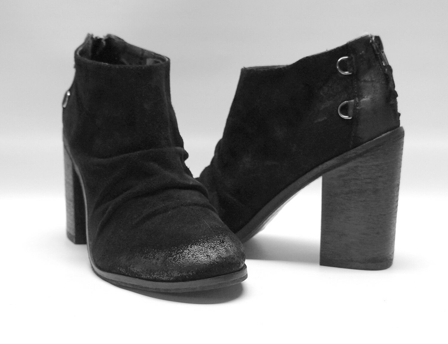 Boutique 9  160 Black Leather Ankle Ankle Ankle Boots Shale Women's shoes 7 768e85