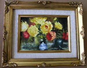 Framed-Oil-Painting-034-Floral-N22-034-9x11-in