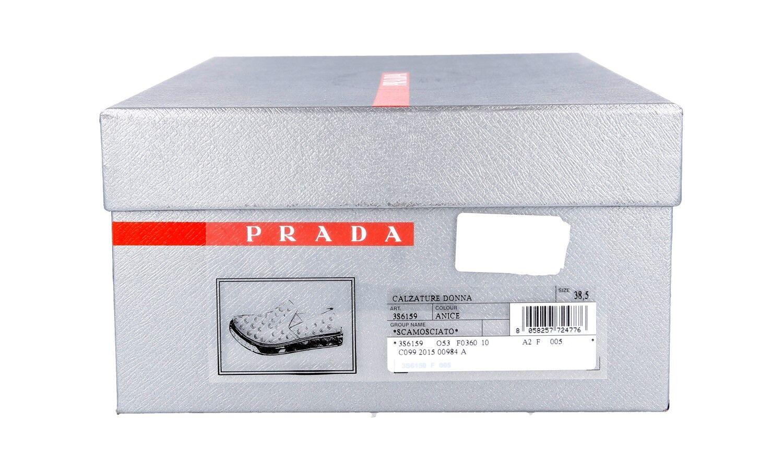 LUXUS PRADA SNEAKER 40 SCHUHE 3S6159 TUERKIS NEU NEW 39,5 40 SNEAKER UK 6.5 07397a