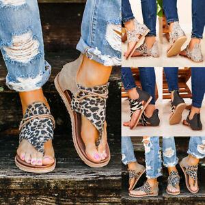 Women Flip Flops Flat Casual Sandals Ladies Summer Beach Zip Up Shoes Size 4-7.5