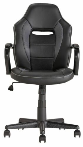 Home Mid Back Office Gaming Chair - Black - E38