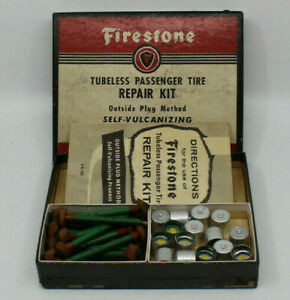 NOS VINTage FIRESTONE Tire REPAIR KIT old service parts new old stock auto car
