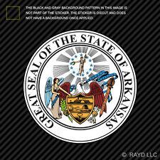 "4"" Arkansas State Seal Sticker Decal Self Adhesive Vinyl state the natural land"