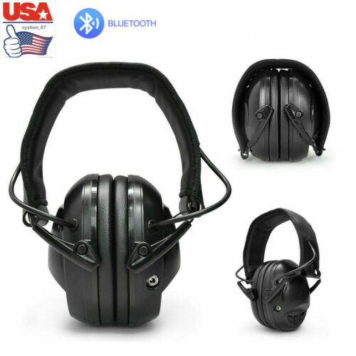 Details about  /US Rechargeable Bluetooth Noise Cancelling Earmuff Shooting Gun Range Headphones