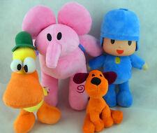 Pocoyo Elly Pato Loula Soft 4pcs Of Set Plush Stuffed Figure Toy Doll NEW