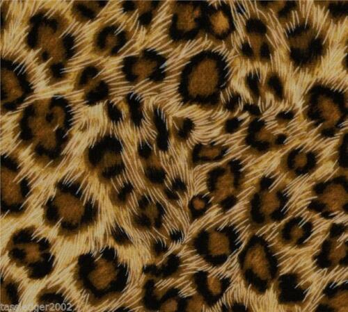 Safari Leopard Pattern Cotton Fabric