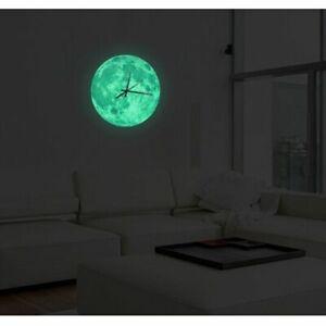 Moon-Wall-Clock-Waterproof-PVC-Acrylic-Luminous-Hanging-Bedroom-Decoration-Watch
