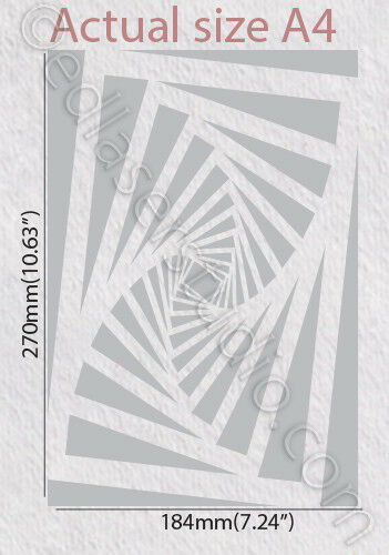 Artwork Stencil Template Card making Paint Home Decor Journaling Crafts TE157