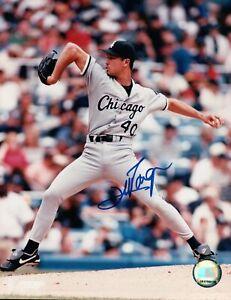 Jim-Parque-Signed-8X10-Photo-Autograph-White-Sox-Leg-In-Air-Road-Auto-COA