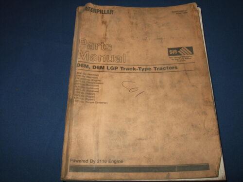 CAT CATERPILLAR D6M LGP TRACTOR DOZER PARTS BOOK MANUAL S//N 3WN 4JN