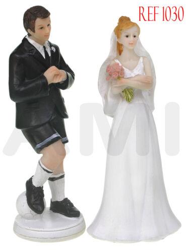 CLEARANCE SALE Football Wedding Cake Topper Bride /& Groom *UK Seller* 1030