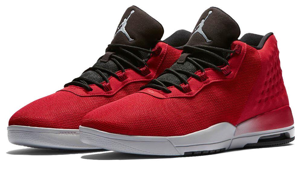 Nike Mens JORDAN ACADEMY, GYM RED WOLF GREY-BLACK