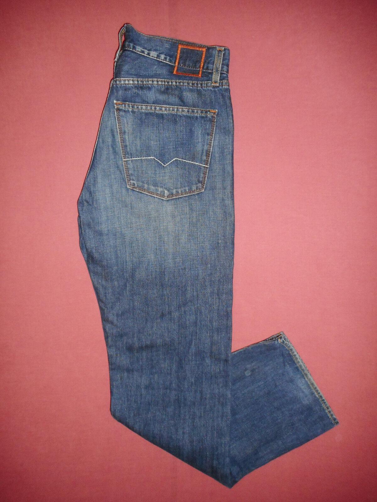 Hugo BOSS HB1 W32 L34 da uomo blu denim jeans K935